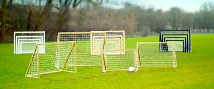 Store og små fodboldmål til haven