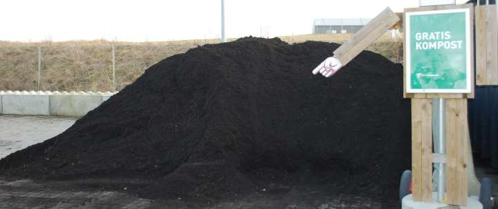 Kompost fra genbrugspladsen